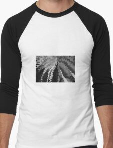 abstract light and shadow bw Men's Baseball ¾ T-Shirt