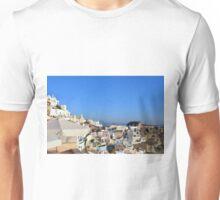 Turists watching the susnet in Santorini, Greece Unisex T-Shirt