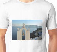 Church bell in Santorini, Greece Unisex T-Shirt