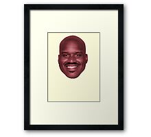 SHAQ FACE Framed Print