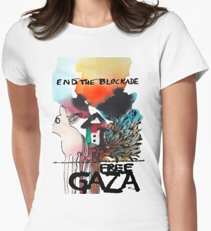 End the Blockade - Free Gaza Womens Fitted T-Shirt