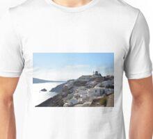 1 October 2016 White architecture at sunset in Santorini, Greece Unisex T-Shirt