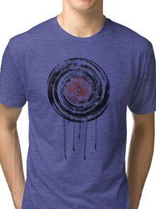 Vinyl Records Retro Urban Grunge Design Tri-blend T-Shirt