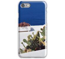 Caci on white terrace in Santorini, Greece iPhone Case/Skin