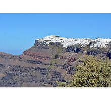 White buildings in the city of Oia in Santorini Island, Greece Photographic Print