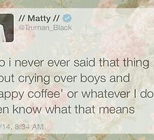 Matt Healy Tweet Floral Sticker by MeganYoung96