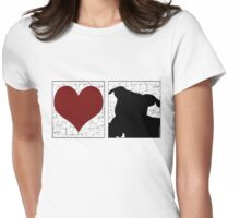 Love Staffy Dogs Womens Fitted T-Shirt