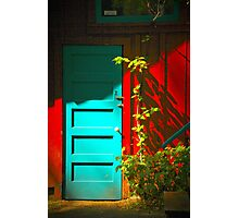 Blue Door in Shadow Photographic Print