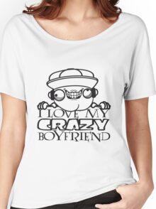 comic cartoon love liebe verliebt boyfriend boy junge mann krone krönchen mädchen niedlich süß wahnsinnig gesicht design cool crazy verrückt verwirrt blöd dumm komisch gestört  Women's Relaxed Fit T-Shirt