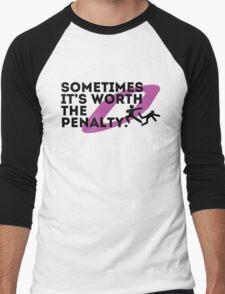 Sometimes it's worth the penalty (black) Men's Baseball ¾ T-Shirt