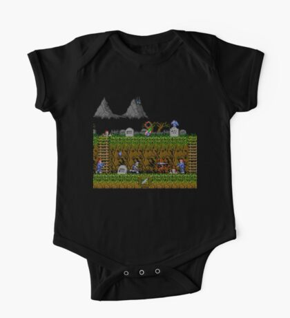 Ghosts and Goblins Scenery One Piece - Short Sleeve