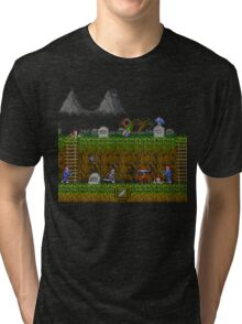Ghosts and Goblins Scenery Tri-blend T-Shirt