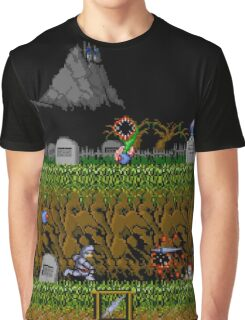 Ghosts and Goblins Scenery Graphic T-Shirt