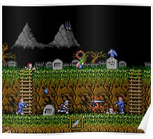 Ghosts and Goblins Scenery Poster