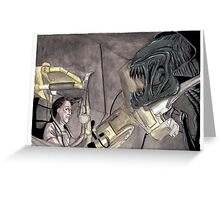 Ripley Vs Queen Greeting Card