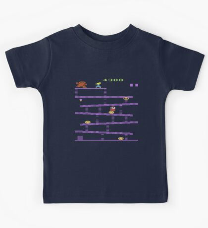 Donkey Kong Atari 2600 Gameplay  Kids Tee