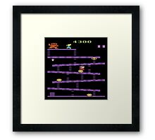 Donkey Kong Atari 2600 Gameplay  Framed Print