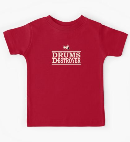 Drums Destroyer white color Kids Tee