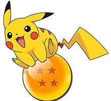 Pikachu On a Dragon Ball by ssgoshin4