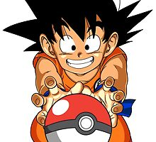 Goku With Poke ball by ssgoshin4