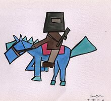 Ned Kelly and his horse  by blakvyne