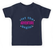 Let The Adventure Begin! Kids Tee