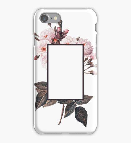 Floral Rectangle Logo iPhone Case/Skin