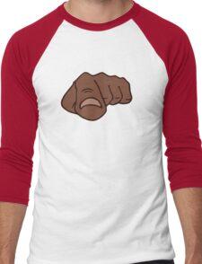 black afro pointing finger i need you Men's Baseball ¾ T-Shirt