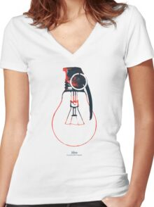 Idea is a powerful weaponra Women's Fitted V-Neck T-Shirt