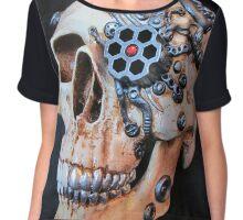 Cyborg Skull Chiffon Top