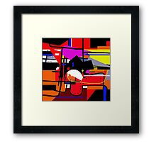 Colorful construction Framed Print