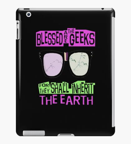 Blessed are the geeks... iPad Case/Skin