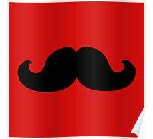 mustache young men moustache Poster
