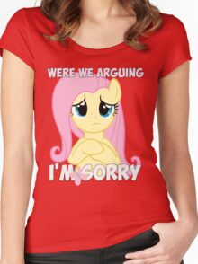 Fluttershy is Sorry Women's Fitted Scoop T-Shirt