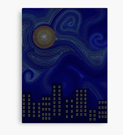 Dashed Night Canvas Print
