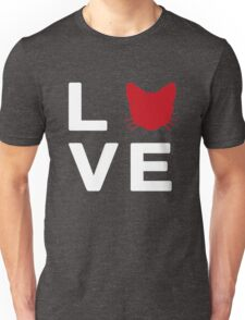 Love Cats Red Unisex T-Shirt