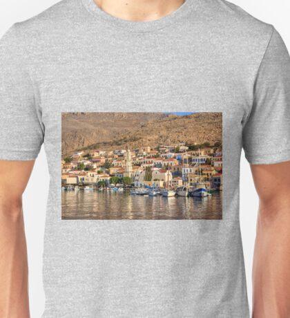Yachts in Nimborio Bay Unisex T-Shirt