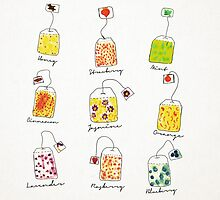 Tea Time | Watercolour Herbal Teas  by Daniel Watts