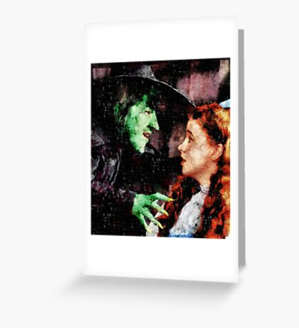 Wicked Witch and Dorothy, Wizard of Oz Greeting Card