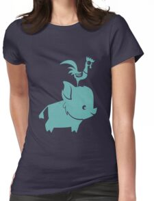 HeiHei chicken stupid Womens Fitted T-Shirt