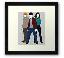 Always These Three - Harry, Ron and Hermione  Framed Print