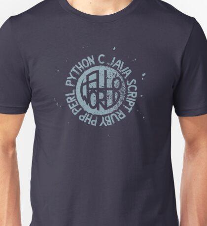 Hallo World - Ink In Milk Unisex T-Shirt
