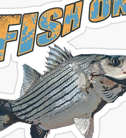 Fish on stripes Sticker