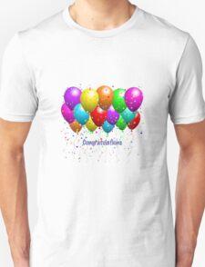 Congratulations Balloons  Unisex T-Shirt