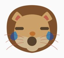Funny Lion Emoji Teary Eyes and Sad Look Kids Tee