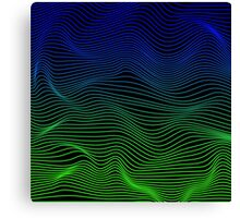 Blue and Green Waves Canvas Print