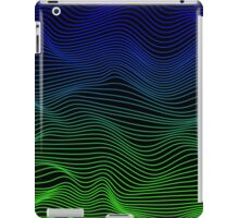Blue and Green Waves iPad Case/Skin