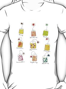 Tea Time | Watercolour Herbal Teas  T-Shirt