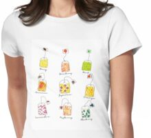 Tea Time | Watercolour Herbal Teas  Womens Fitted T-Shirt