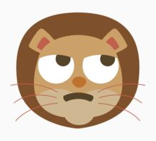 Funny Lion Emoji Thinking Hard and Hmm Look Kids Tee